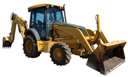 Backhoe Loader Side View
